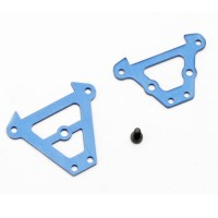 TRAXXAS - BULKHEAD TIE BARS FRONT & REAR (BLUE-ANODIZED ALUMINUM)/ 2.5X6 CS (1) 7023