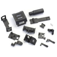 KYOSHO - CHASSIS SMALL PARTS SET MINI-Z AWD MA015- BLACK MD003BK