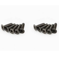 KYOSHO - FLAT HEAD TP SCREWS 4X15MM (10) 1-S34015TP