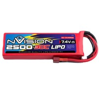 NVISION - LIPO 2S-7.4V-2500-30C - DEANS NVO1804