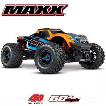 TRAXXAS - MAXX 4S 4x4 ORANGE 1/10 BRUSHLESS TQI TSM - SANS AQ/CHG RTR 89076-4-ORNG
