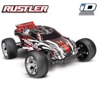 TRAXXAS - RUSTLER - 4x2 - ROUGE - 1/10 BRUSHED TQ 2.4GHZ - iD SANS AQ/CHG 37054-4-RED