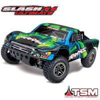 TRAXXAS - SLASH 4X4 ULTIMATE GREEN 1/10 BRUSHLESS - TSM - WIRELESS - iD W/O AQ/CHG 68077-4-GRN