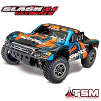 TRAXXAS - SLASH 4X4 ULTIMATE ORANGE 1/10 BRUSHLESS - TSM - WIRELESS - iD W/O AQ/CHG 68077-4-ORNG