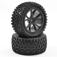 FASTRAX - 1/10TH MOUNTED CUBOID BUGGY REAR TYRES 10-SPOKE FAST0037B