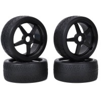 KYOSHO - TYRES ON INFERNO GT BLACK WHEELS (4) IGTH2019