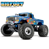 TRAXXAS - BIGFOOT BLUE 4x2 1/10 BRUSHED TQ 2.4GHZ - iD 36034-1-BLUEX