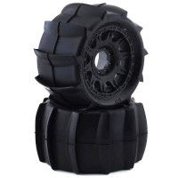 PROLINE - SLING SHOT 3.8 ON BLACK RAID 8x32 17MM HEX WHEEL 1179-10