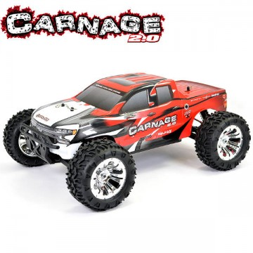 FTX - CARNAGE 2.0 1/10 BRUSHED TRUCK 4WD RTR - RED FTX5537R