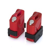 HOBBYTECH - RED GASOLINE JERRICANS + SUPPORTS X02PCS HT-SU1801040
