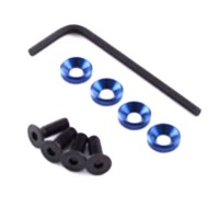 FASTRAX - M4 ENGINE MOUNTS W/F.H.SCREWS BLUE FAST148