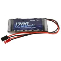 GENS ACE - RX BATTERY NIMH 6.0V-1700MAH (DUAL JR-JST) 125G - STRAIGHT GE6-1700S-JJ