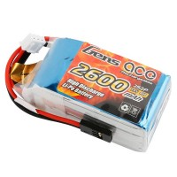 GENS ACE - RX BATTERY LIPO 2S-7.4V-2600 (JR PLUG) 96G - HUMP GE6-2600H-2JR