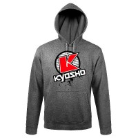 KYOSHO - SWEAT CAPUCHE K-CIRCLE GRIS (3XL) 88010-3XL