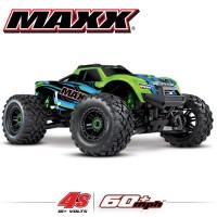 TRAXXAS - MAXX 4S 4x4 VERT 1/10 BRUSHLESS TQI TSM - SANS AQ/CHG RTR 89076-4-GRN