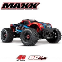 TRAXXAS - MAXX 4S 4x4 RED X 1/10 BRUSHLESS TQI TSM - W/O AQ/CHG RTR 89076-4-REDX