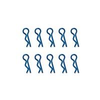 HOBBYTECH - CLIPS DE CARROSSERIE 1/10EME BLEU METALLISE (10PCS) HT-501381B