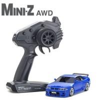 KYOSHO - MINI-Z AWD NISSAN SKYLINE GT-R NISMO (R33) BLEUE (MA-020/KT531P) 32616BL