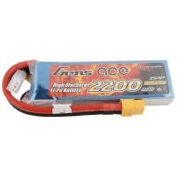 GENS ACE - BATTERIE LIPO 2S 7.4V-2200-30C (XT60) GE1-2200-2X