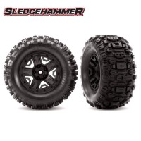 TRAXXAS - TIRES & WHEELS ASSEMBLED GLUED (BLACK 2.8 WHEELS SLEDGEHAMMER TIRES FOAM INSERTS) (2) 6792