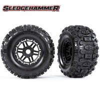 TRAXXAS - ROUES MONTEES COLLEES NOIRES SLEDGEHAMMER - MAXX (2) 8973