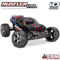 TRAXXAS - RUSTLER 4x2 1/10 VXL BRUSHLESS TSM - W/O BAT/CH RED 37076-4-RED