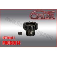 6MIK - PINION GEAR M1 14D 1/8 OPTIMA POCBE014