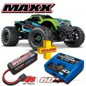 TRAXXAS - COMBO MAXX 4S 4x4 GREEN 1/10 BRUSHLESS TQI TSM - W AQ/CHG RTR COMBO-89076-4-GRN