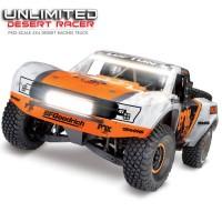 TRAXXAS - UNLIMITED DESERT RACER FOX - 4X4 + LED - TSM 85086-4-FOX