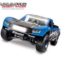 TRAXXAS - UNLIMITED DESERT RACER BLEU - 4X4 + LED - TSM 85086-4-TRX