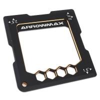 ARROWMAX - QUICK CAMBER GAUGE FOR 1/10TH 1.5,2,2.5 DEGRÉS BLACK GOLDEN AM171006