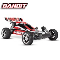 TRAXXAS - BANDIT - 4x2 - ROUGE - 1/10 BRUSHED TQ 2.4GHZ - iD SANS AQ/CHG 24054-4-RED