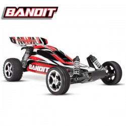 TRAXXAS - BANDIT - 4x2 - RED - 1/10 BRUSHED TQ 2.4GHZ - iD W/O BATTERY & CHARGER 24054-4-RED