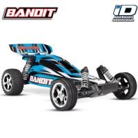 TRAXXAS - BANDIT - 4x2 - BLEU - 1/10 BRUSHED TQ 2.4GHZ - iD SANS AQ/CHG 24054-4-BLUE