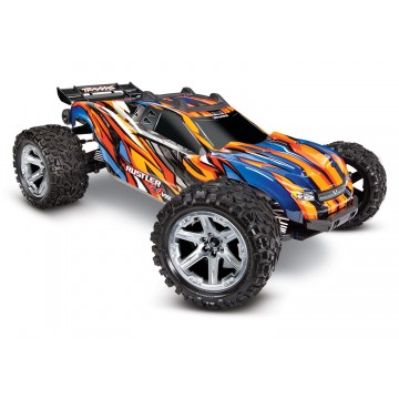 TRAXXAS - RUSTLER 4x4 ORANGE 1/10 VXL BRUSHLESS TSM - W/O BAT/CH 67076-4-ORNG