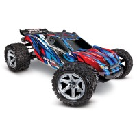 TRAXXAS - RUSTLER 4x4 BLUE 1/10 VXL BRUSHLESS TSM - W/O BAT/CH 67076-4-BLUE