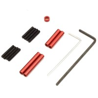 KYOSHO - ALUMINIUM RED ANODIZED LINK ROD SET MINI-Z 4X4 MX01- WB 110MM MXW001R