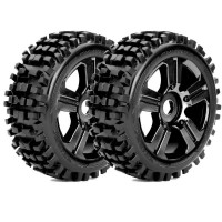 ROAPEX - BUGGY 1:8 TYRE RHYTHM ON BLACK WHEELS 17MM (2) R5002B