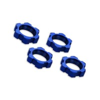 TRAXXAS - WHEEL NUTS SPLINED ALUMINUM 17MM (BLUE-ANODIZED) (4) 7758
