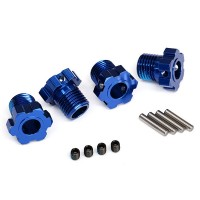 TRAXXAS - WHEEL HUBS SPLINED 17MM (BLUE-ANODIZED) (4) 8654