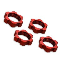 TRAXXAS - WHEEL NUTS SPLINED ALUMINUM 17MM (RED-ANODIZED) (4) 7758R