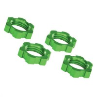 TRAXXAS - WHEEL NUTS SPLINED ALUMINUM 17MM (GREEN-ANODIZED) (4) 7758G