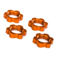 TRAXXAS - WHEEL NUTS SPLINED ALUMINUM 17MM (ORANGE-ANODIZED) (4) 7758T