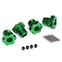 TRAXXAS - WHEEL HUBS SPLINED 17MM (GREEN-ANODIZED) (4) 8654G