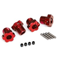 TRAXXAS - WHEEL HUBS SPLINED 17MM (RED-ANODIZED) (4) 8654R