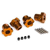 TRAXXAS - WHEEL HUBS SPLINED 17MM (ORANGE-ANODIZED) (4) 8654A