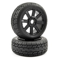 FASTRAX - 1:8 EAGLE TREAD MOUNTED ON 8-SPOKE BLACK (PR) FAST1015B
