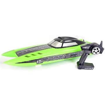 VOLANTEX - ATOMIC SR85 BRUSHLESS BOAT (NO BATT)- GREEN V798-3