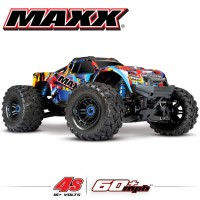 TRAXXAS - MAXX 4S 4x4 ROCK N'ROLL 1/10 BRUSHLESS TQI TSM - SANS AQ/CHG RTR 89076-4-RNR