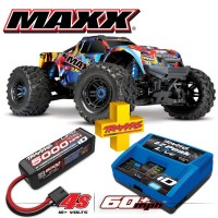 TRAXXAS - COMBO MAXX 4S 4x4 ROCK N'ROLL 1/10 BRUSHLESS TQI TSM - W AQ/CHG RTR COMBO-89076-4-RNR